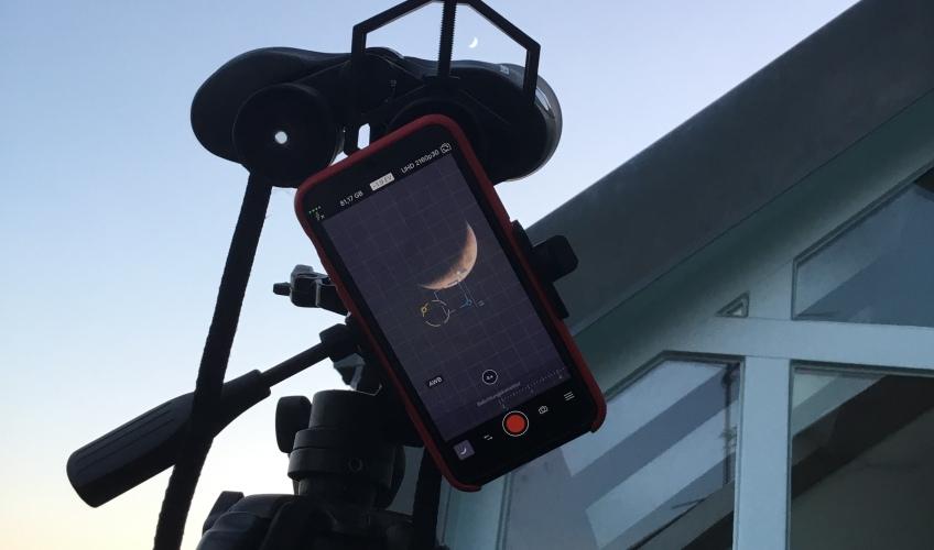 Astronomie mit dem fernglas am 19.05.18 & 25.05.18: mond goldener