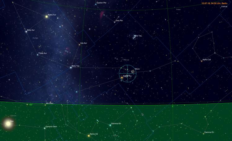 Mond nahe Aldebaran