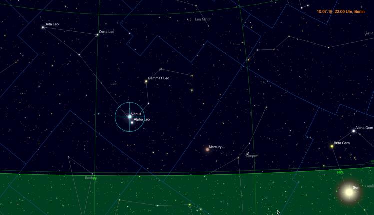 Venus nahe Regulus