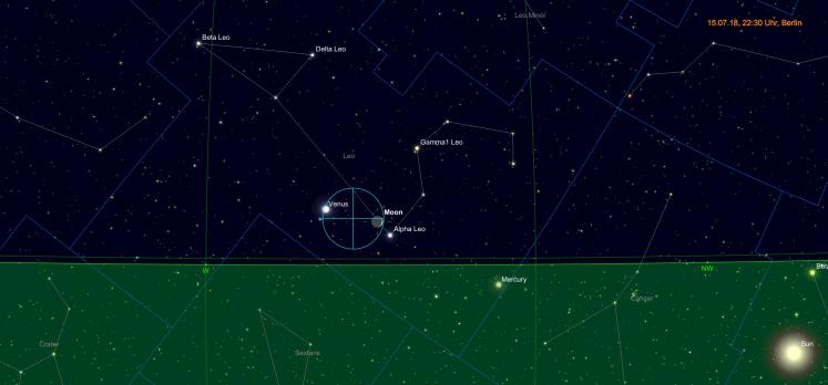 Mondsichel bei Venus