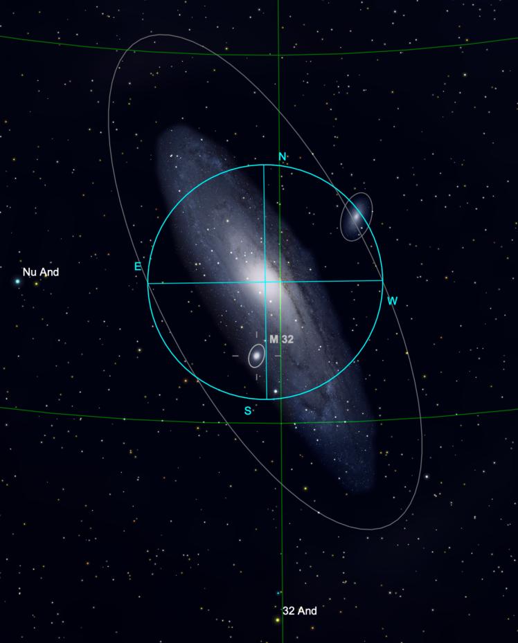 Andromeda Galaxie im Programm Sky Safari