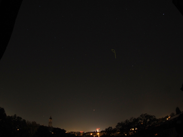 Sternbild Delpin am südlichen Nachthimmel