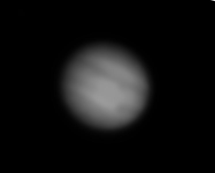 Jupiter am 16.08.18, gestackt aus 45 Sek. Video, nachbearbeitet mit Affinity Photo