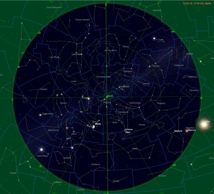 Mondposition zu Beginn des Hesiodusstrahls