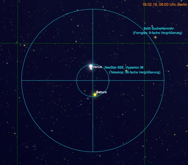 Venus und Saturn im Fernglas