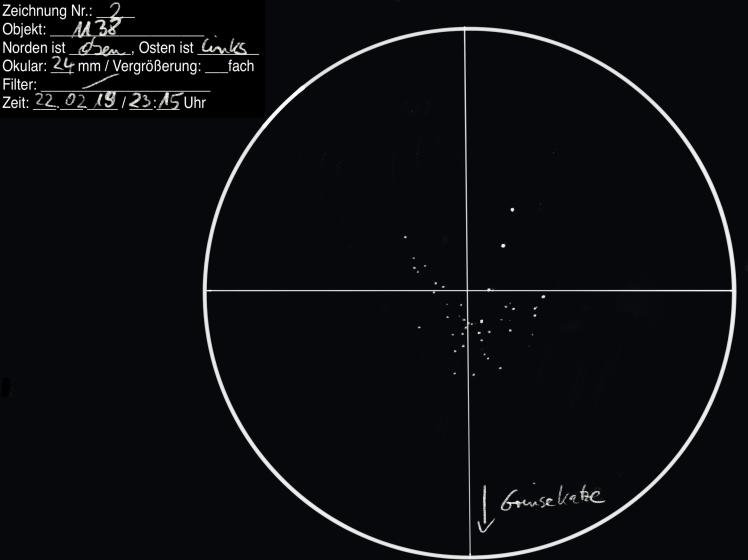 Beobachtungsprotokoll M38