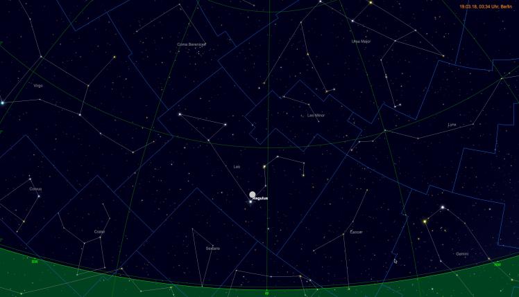 Mond nahe Regulus