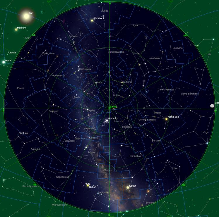 Sternhimmel am 15.04. um 04:00 Uhr