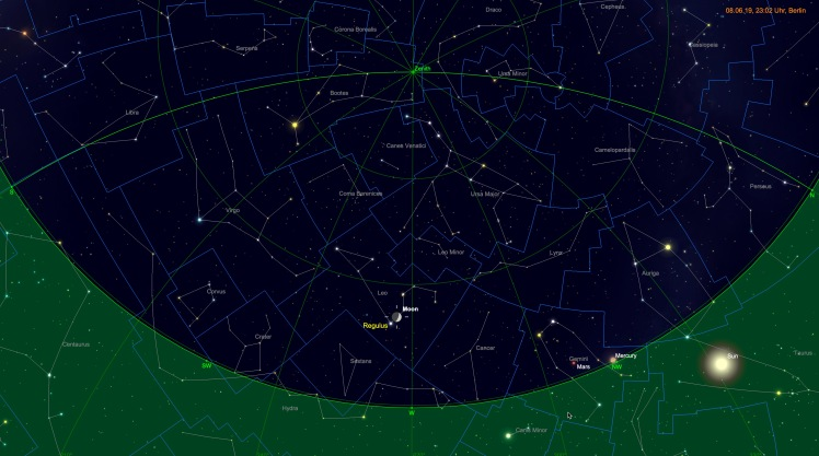Mond bei Regulus