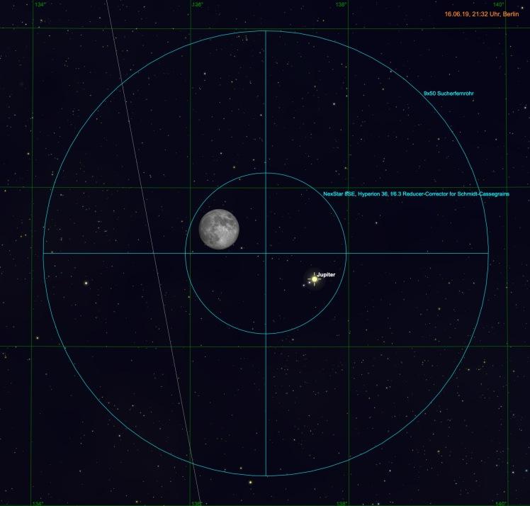 Mond undJupiter im Fernglas und Teleskop