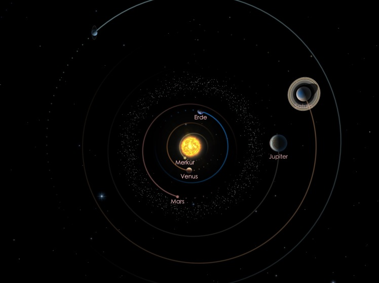 Die Positionen von Jupiter und Saturn am 01.09.19