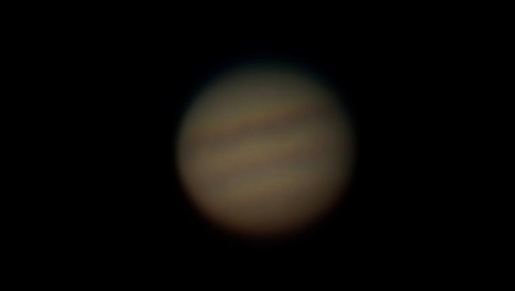 Jupiter - gestackt und nachbearbeitet