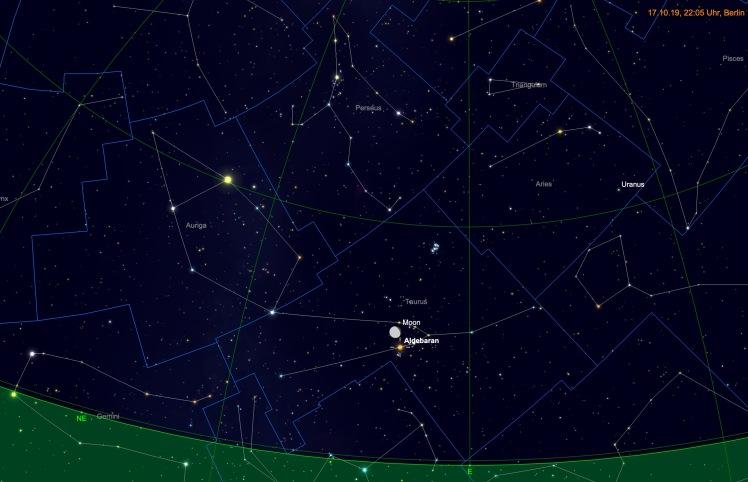 Mond bei Aldebaran