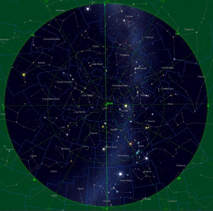 Sternhimmel am 15.11. um 04:00 Uhr