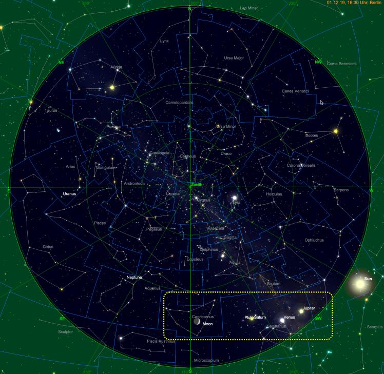 Mond bei Planetenparade