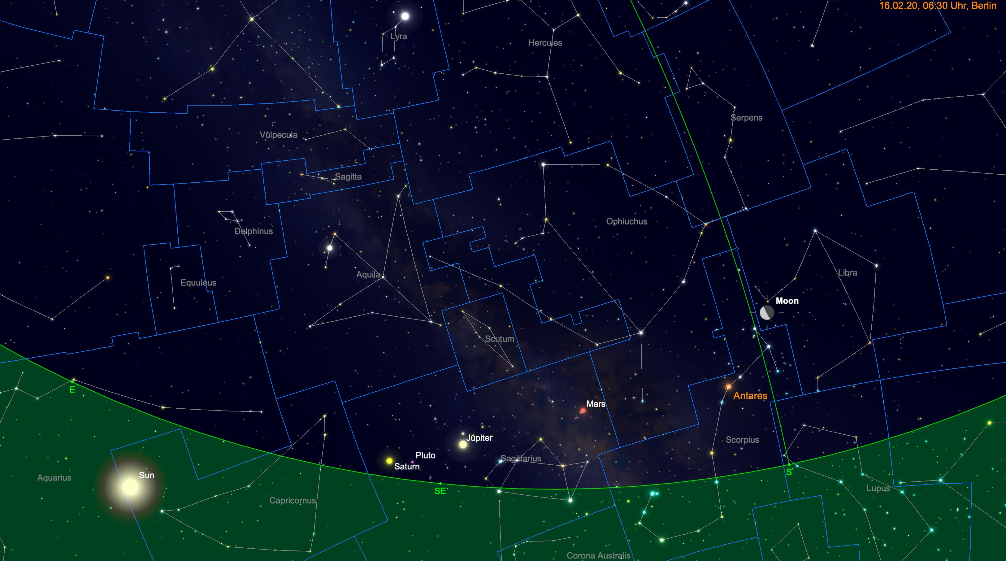 Mond vor Antares