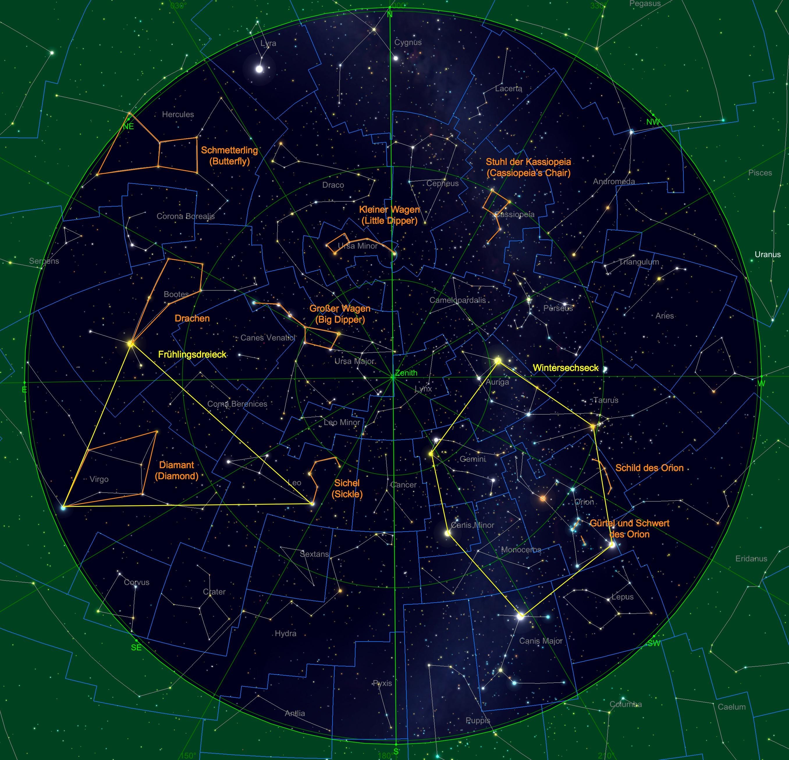 Sternhimmel am 15.02.20, 23:00 Uhr