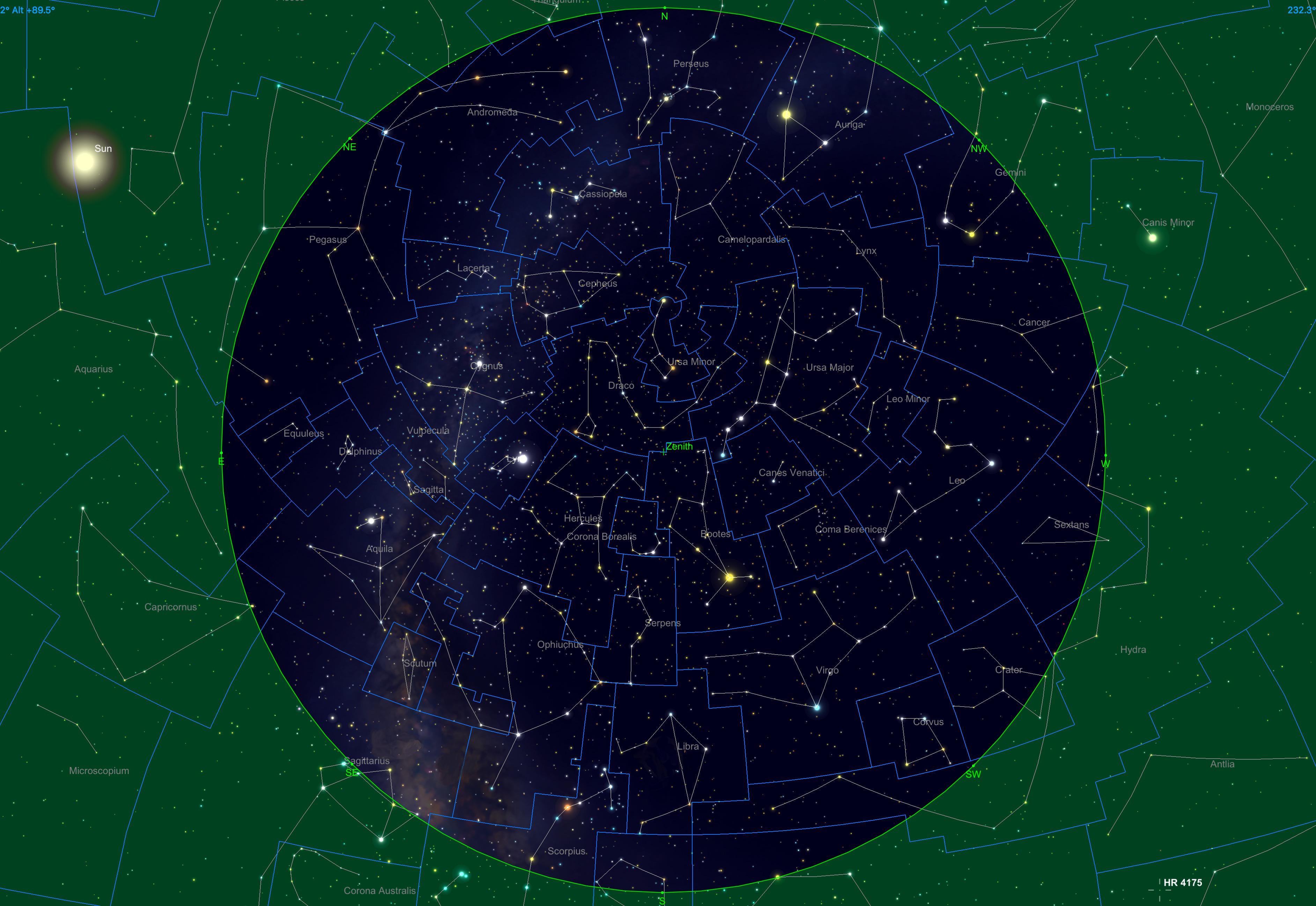 Sternhimmel am 15.03.20, 04:00 Uhr