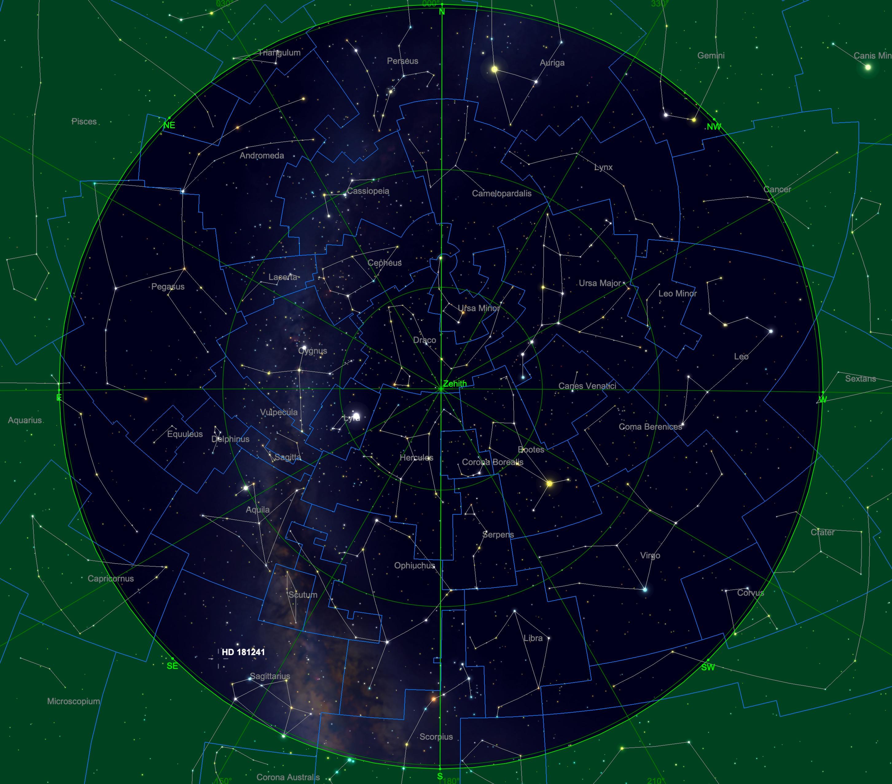 Sternhimmel am 15.03., 04:00 Uhr