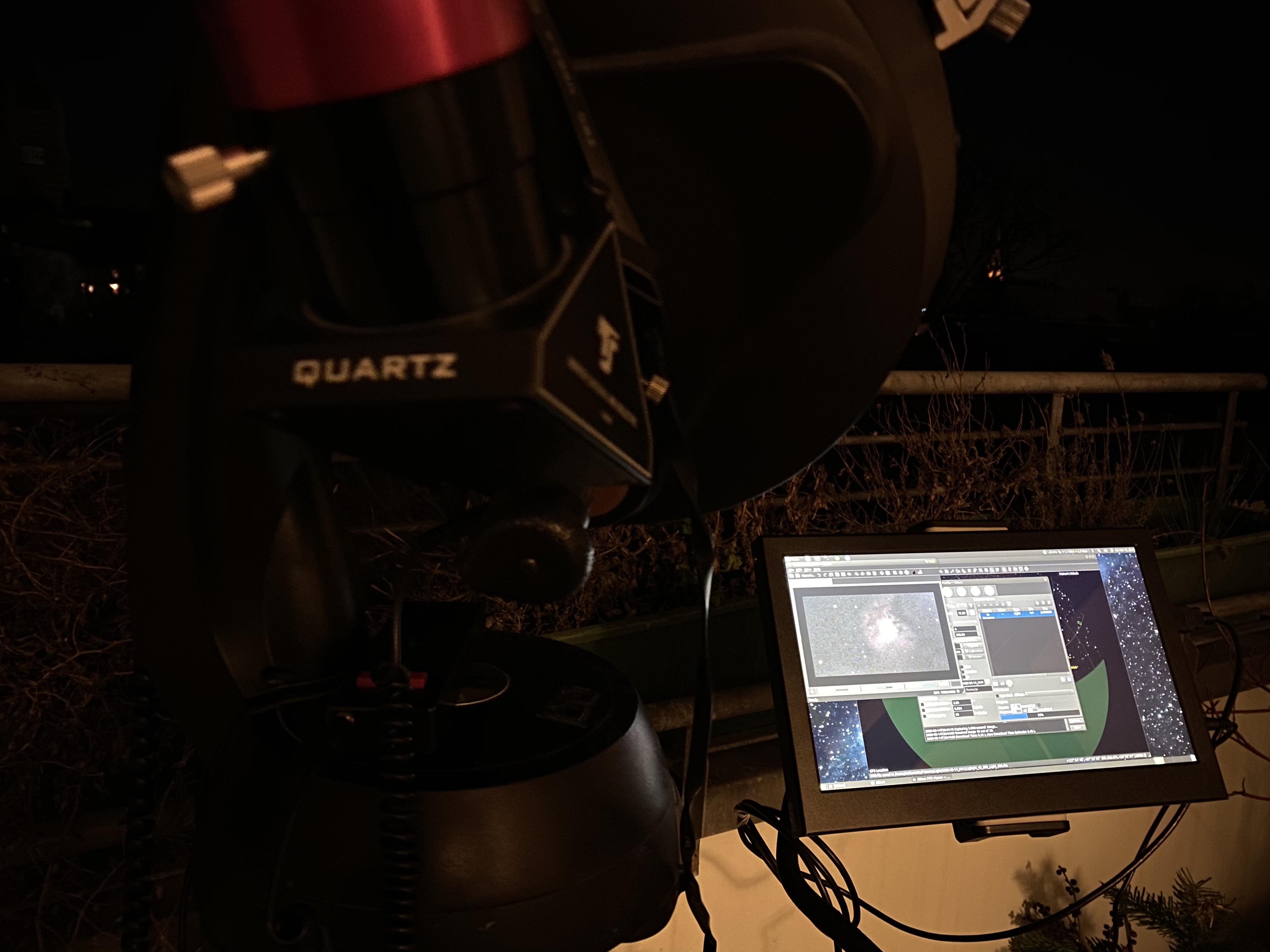 Ekos erstellt gerade die Fotoserie für M43