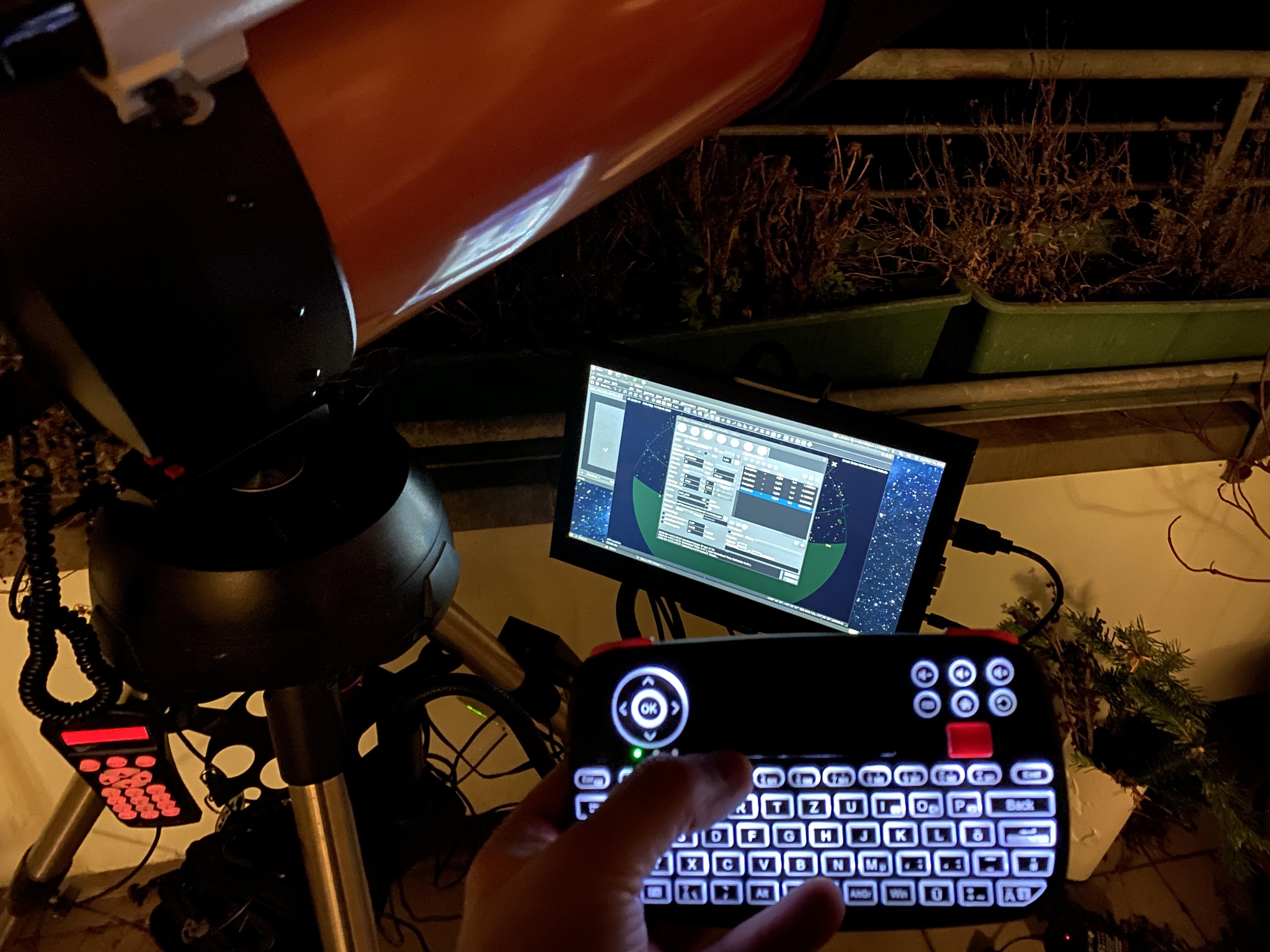 Bedienung der Software auf dem Raspberry Pi