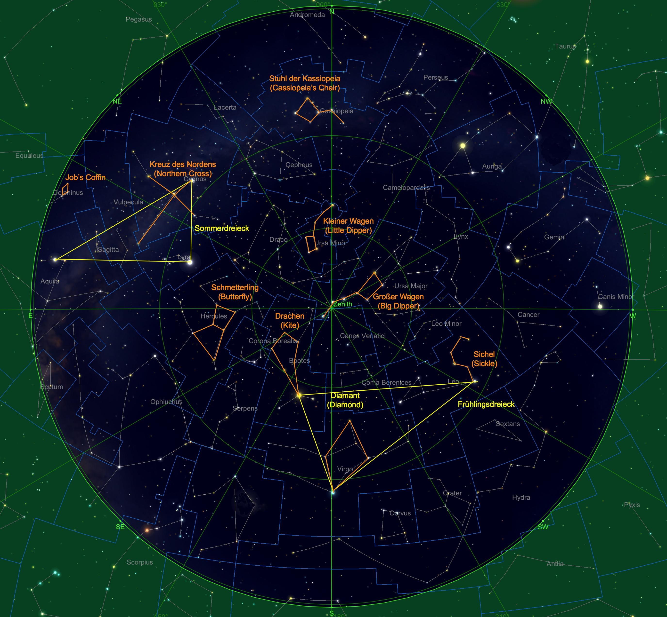 Sternhimmel am 15.05., 23:00 Uhr