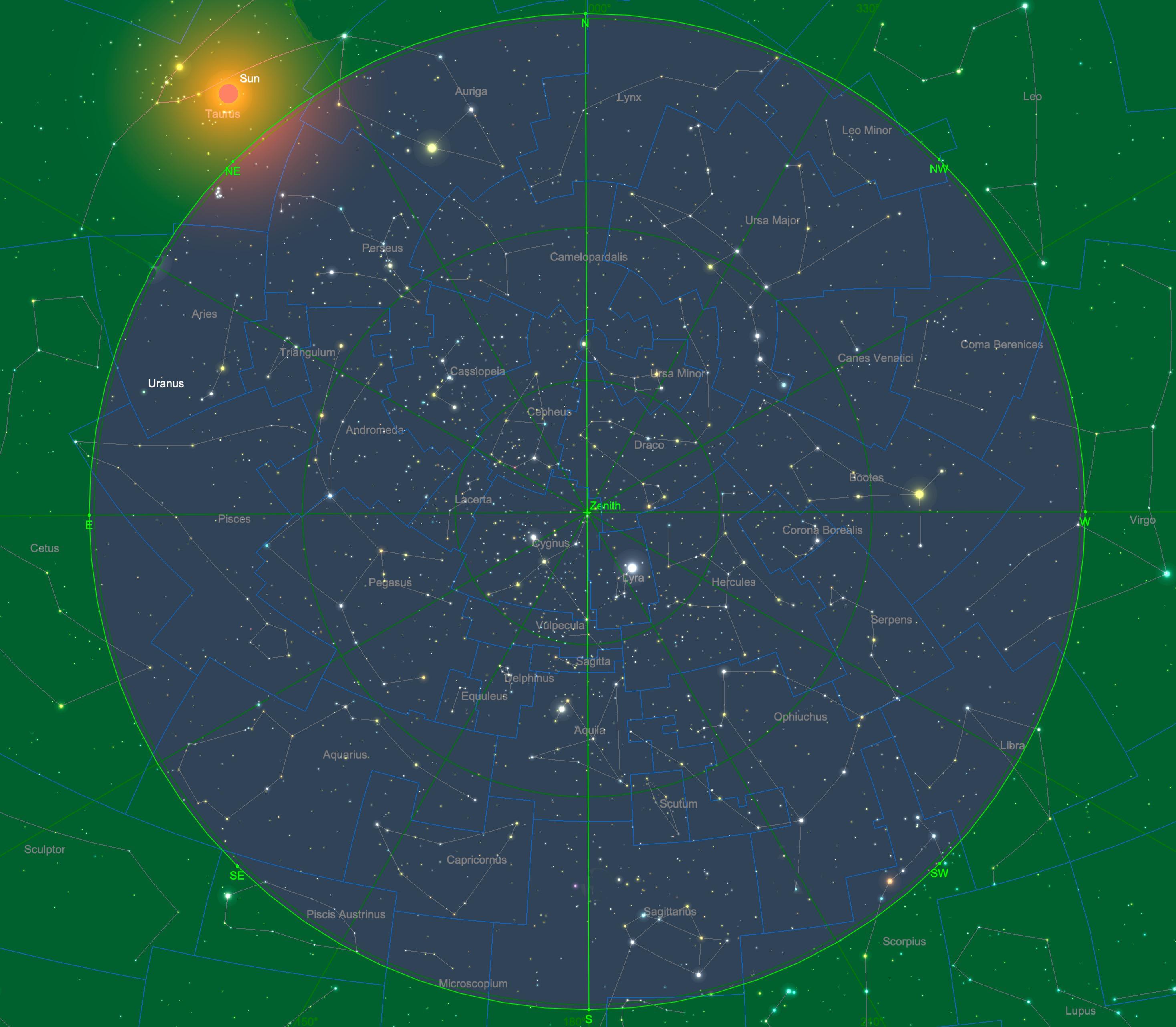 Sternhimmel am 15.06., 04:00 Uhr