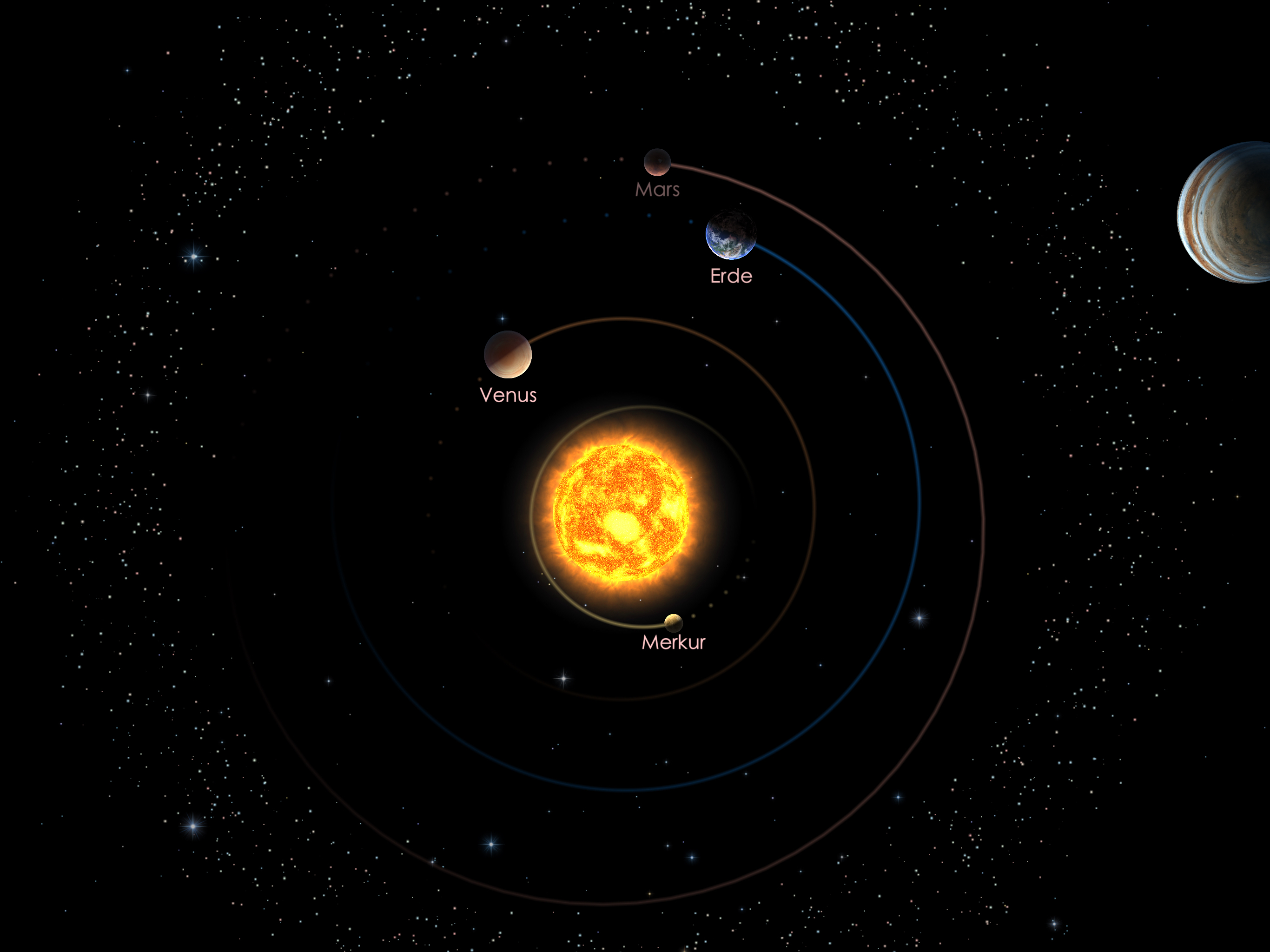 Die inneren Planeten am 01.09.20