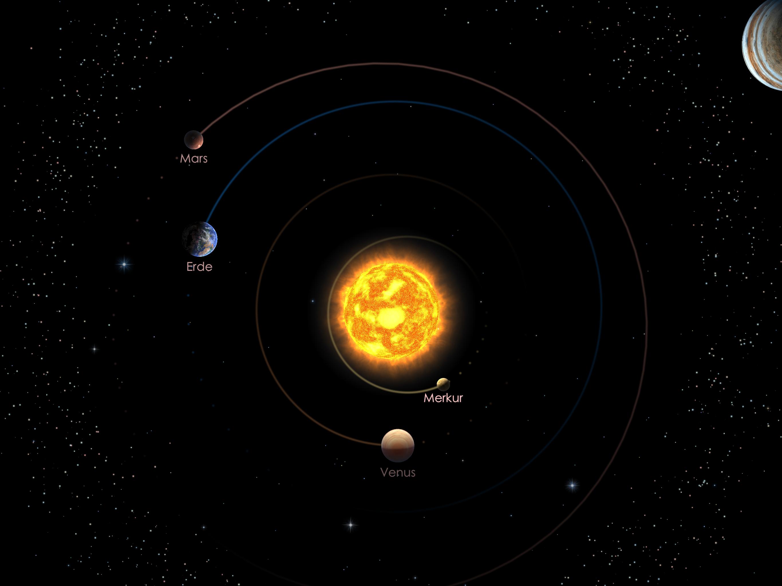 Die inneren Planeten am 01.12.20