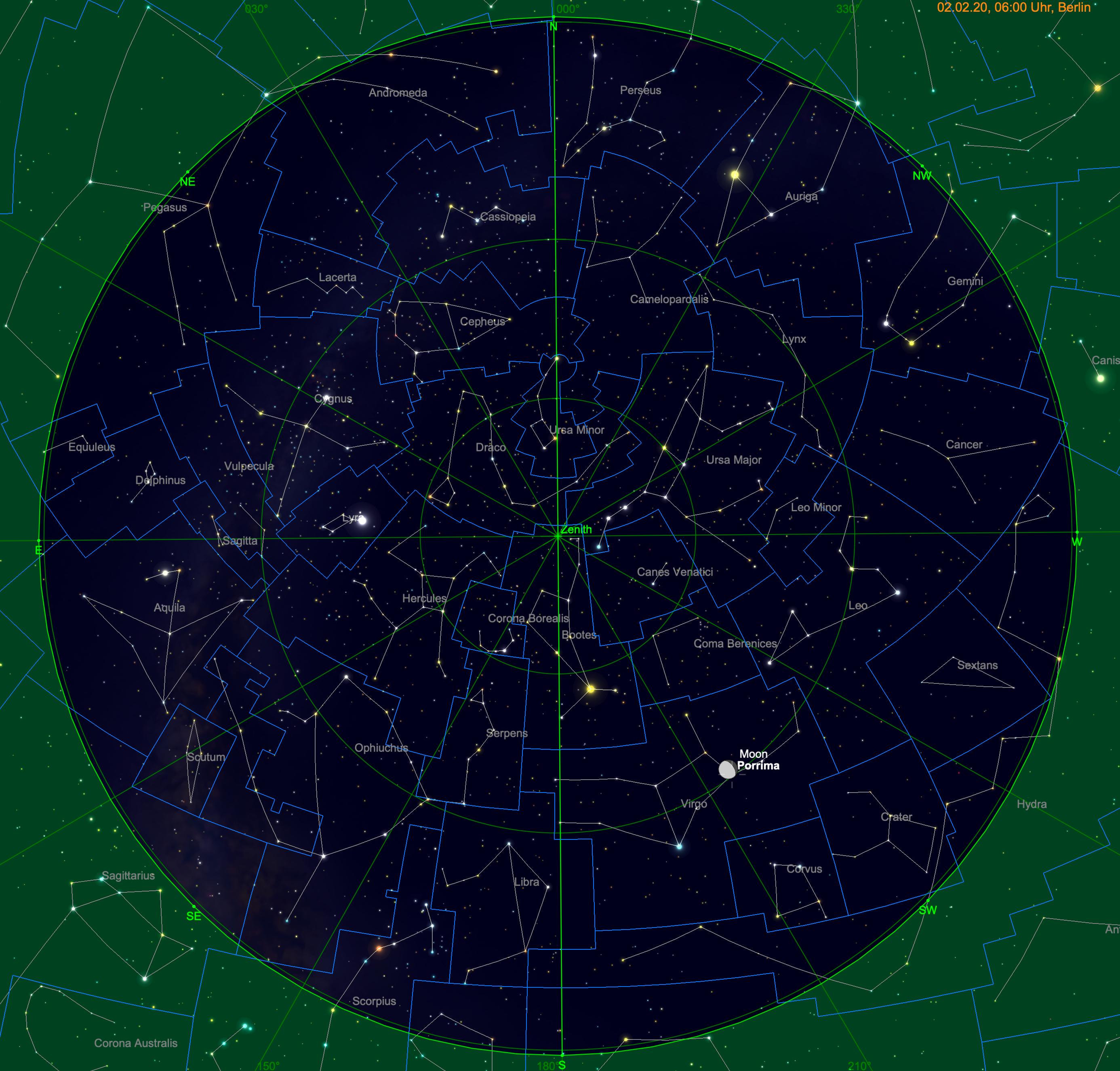 Mond nahe Porrima