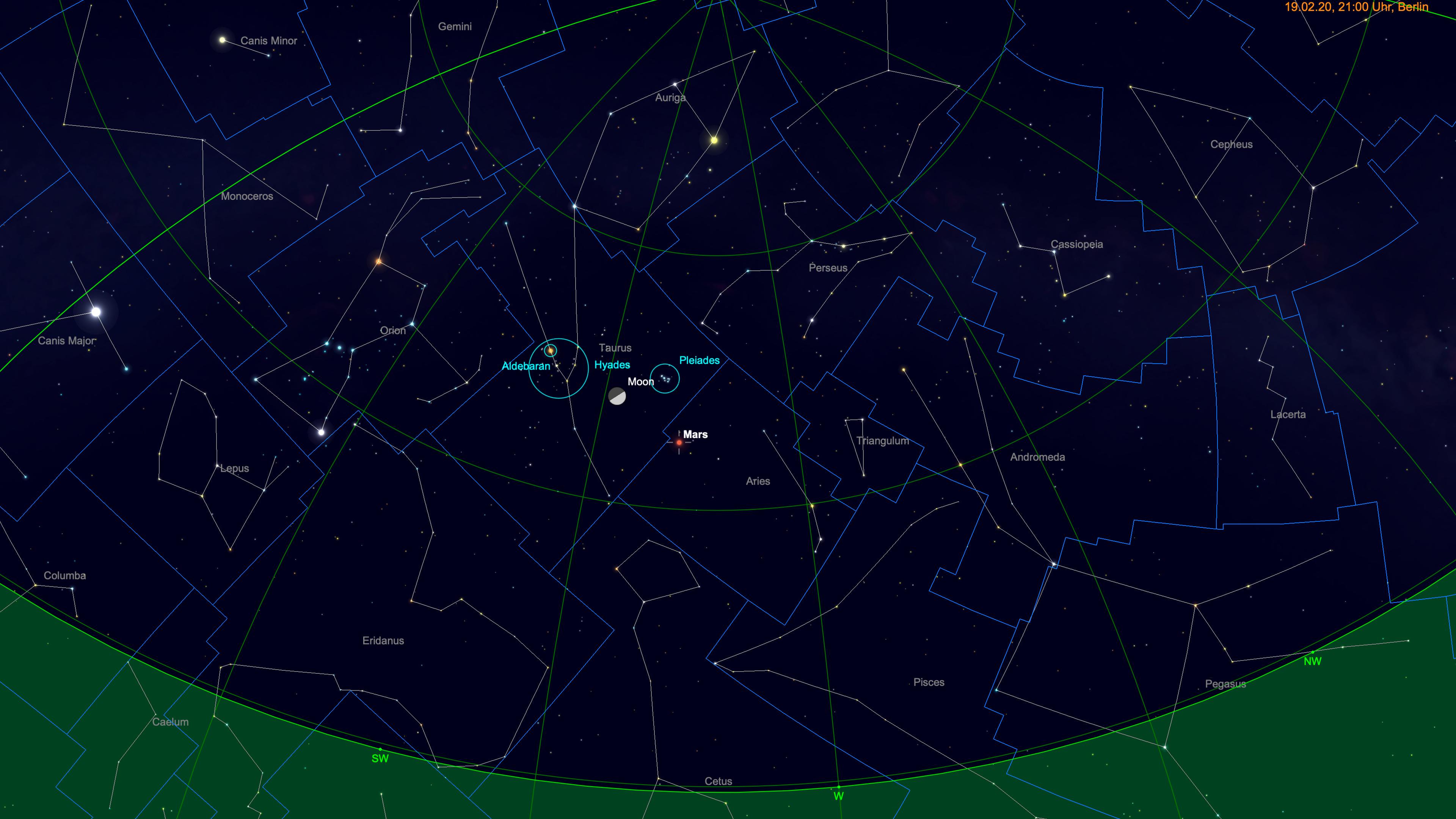 Mond vor dem Goldenen Tor der Ekliptik