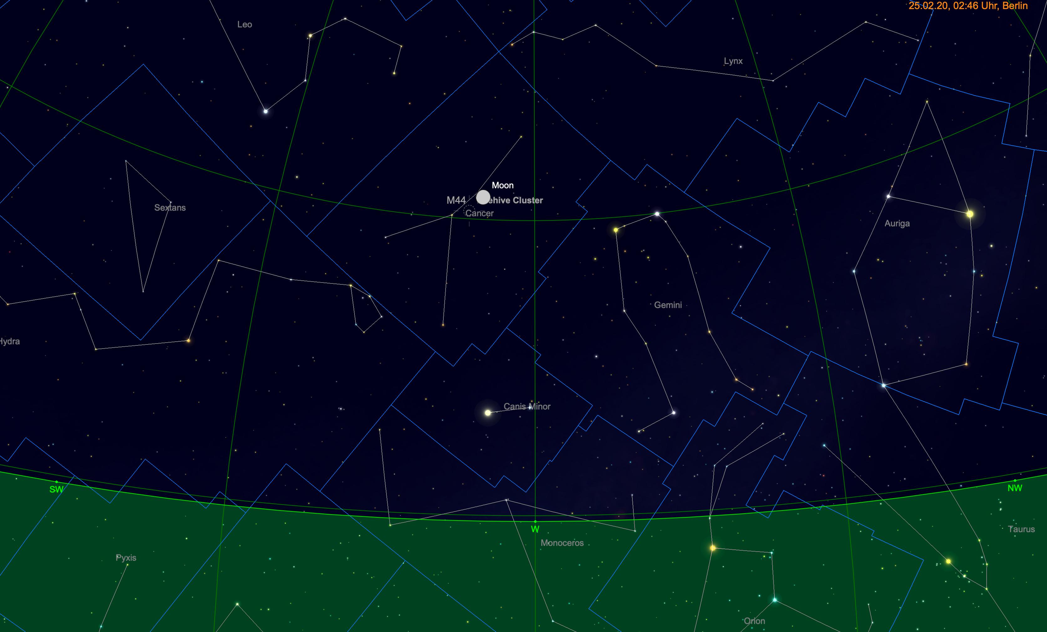 Mond nahe M44
