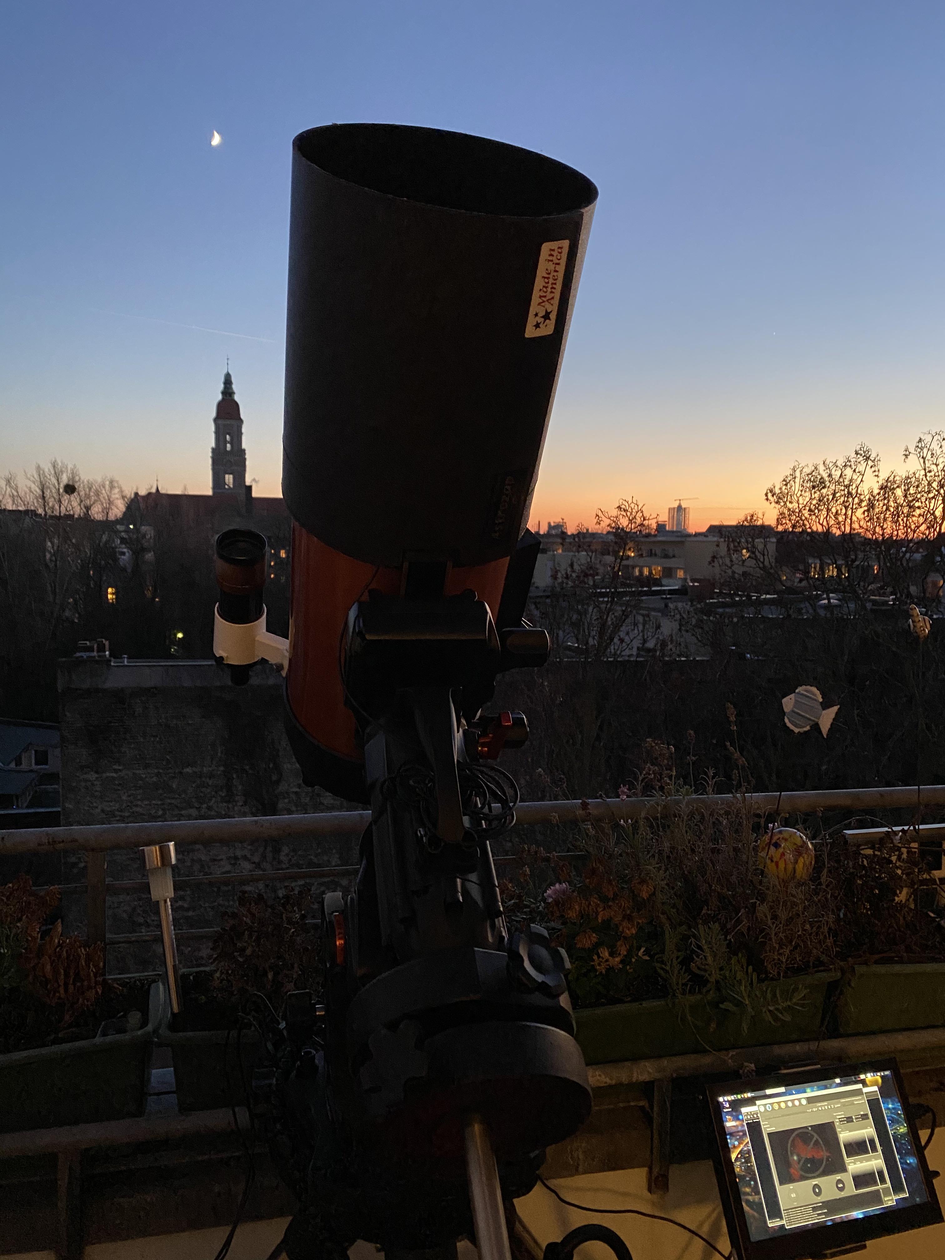 Teleskop in Parkposition