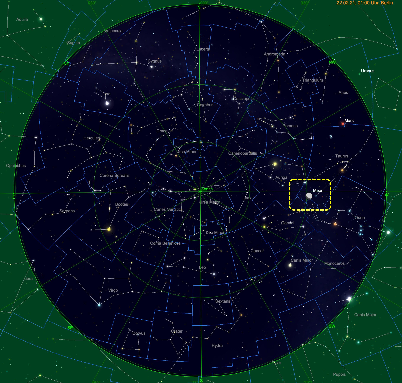 Mond zur Zeit des Hesiodusstrahls