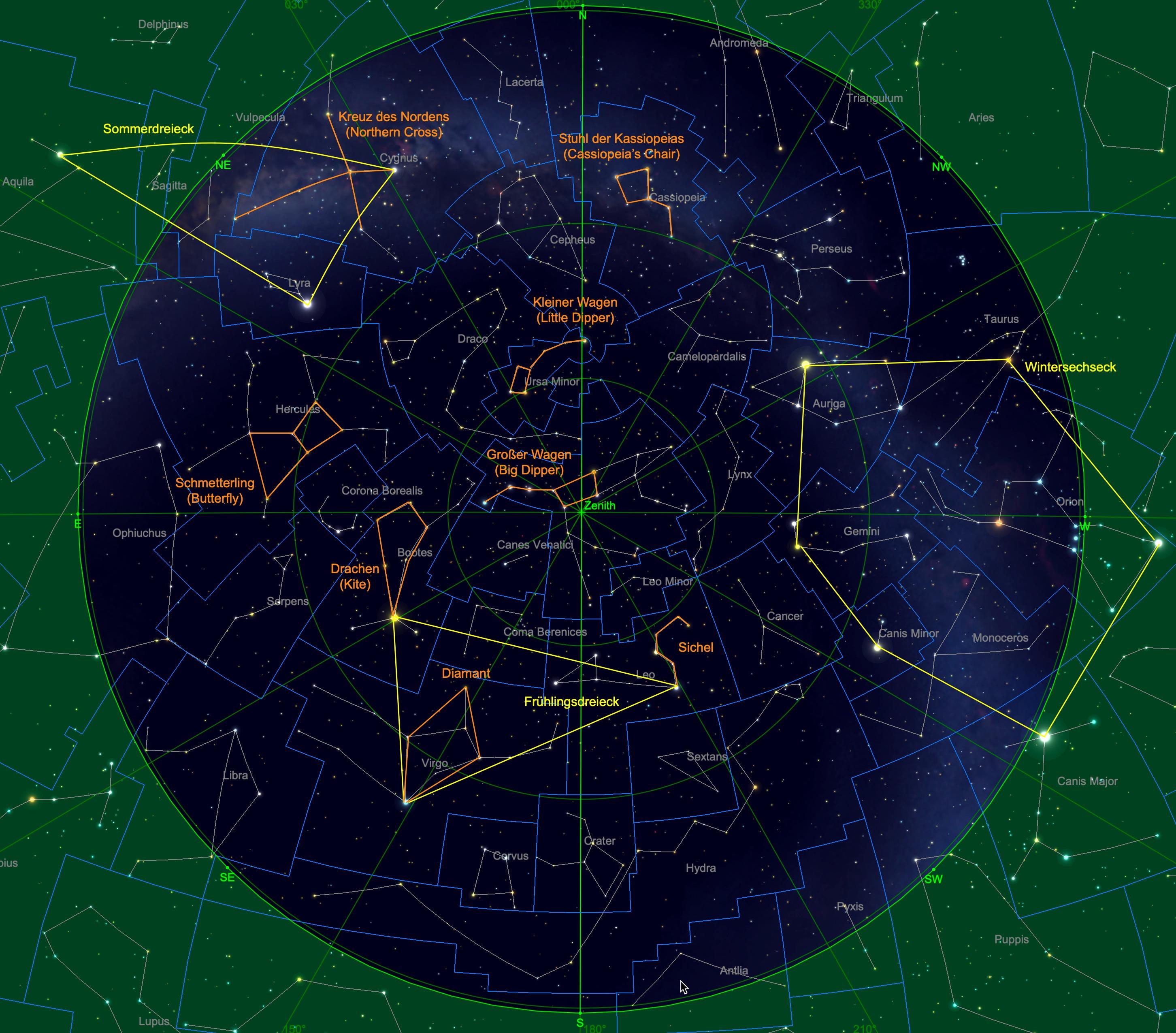 Sternhimmel am 15.04., 23:00 Uhr