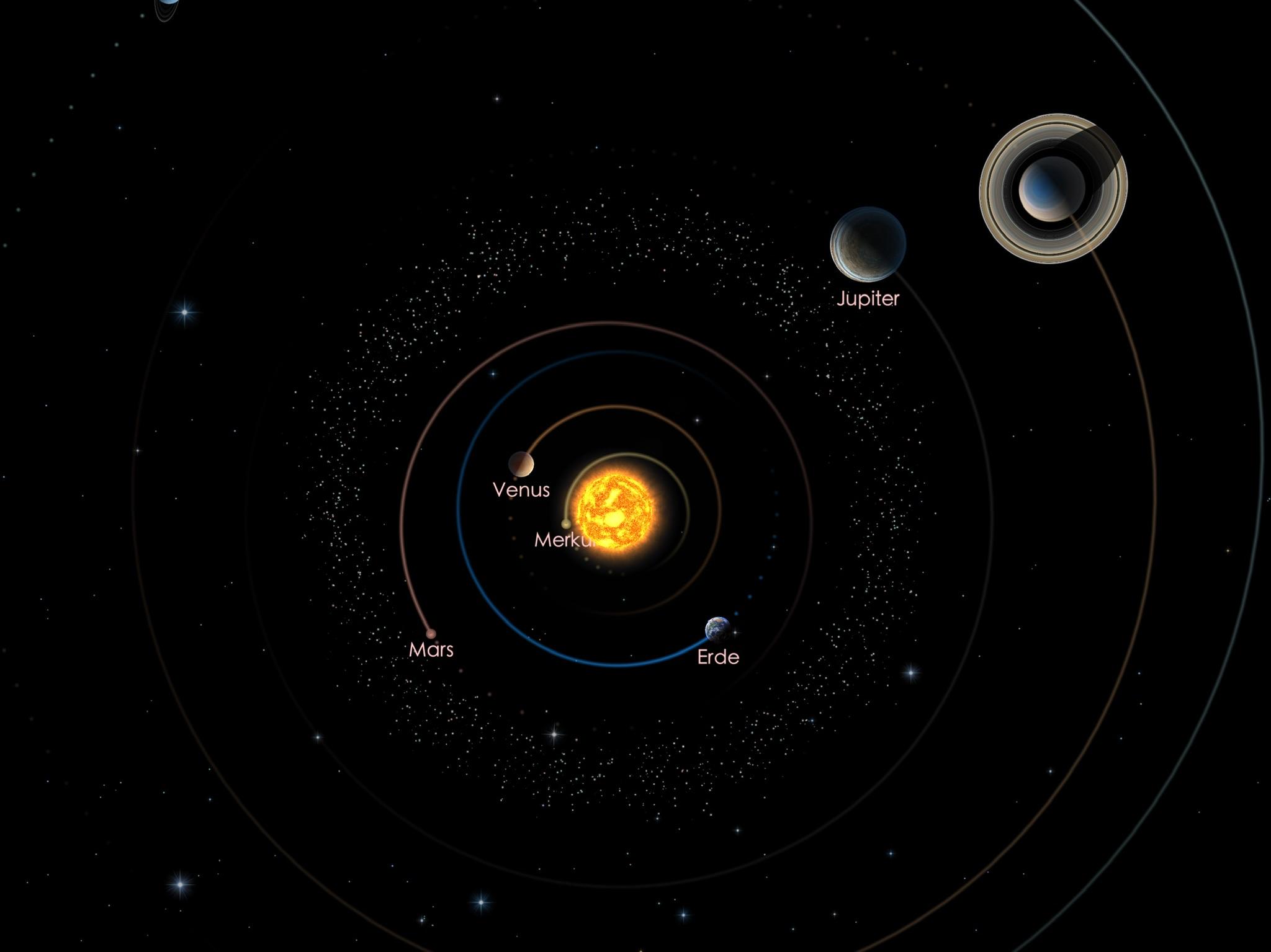 Die Positionen von Jupiter und Saturn am 01.05.21