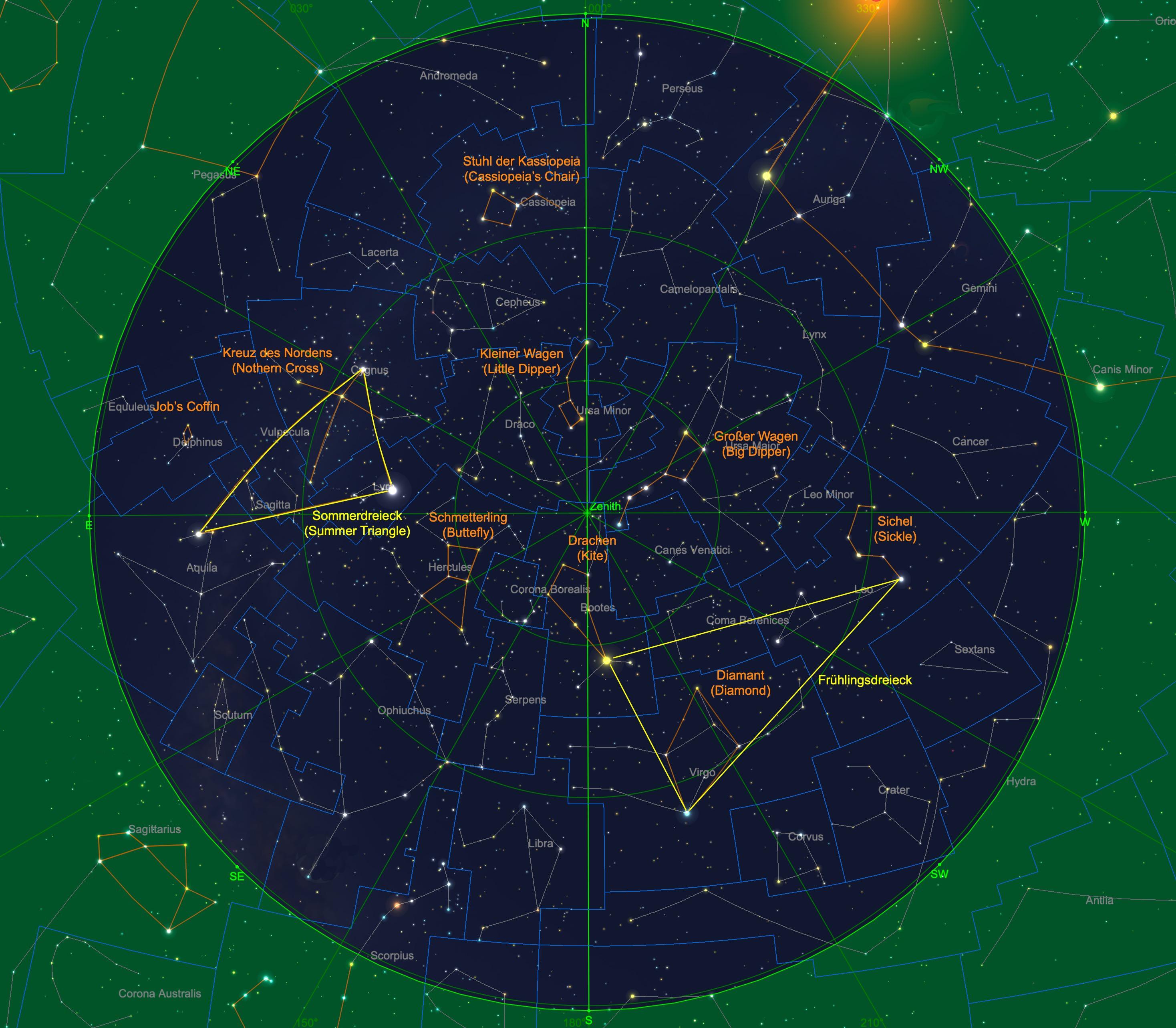 Sternhimmel am 01.06., 23:00 Uhr