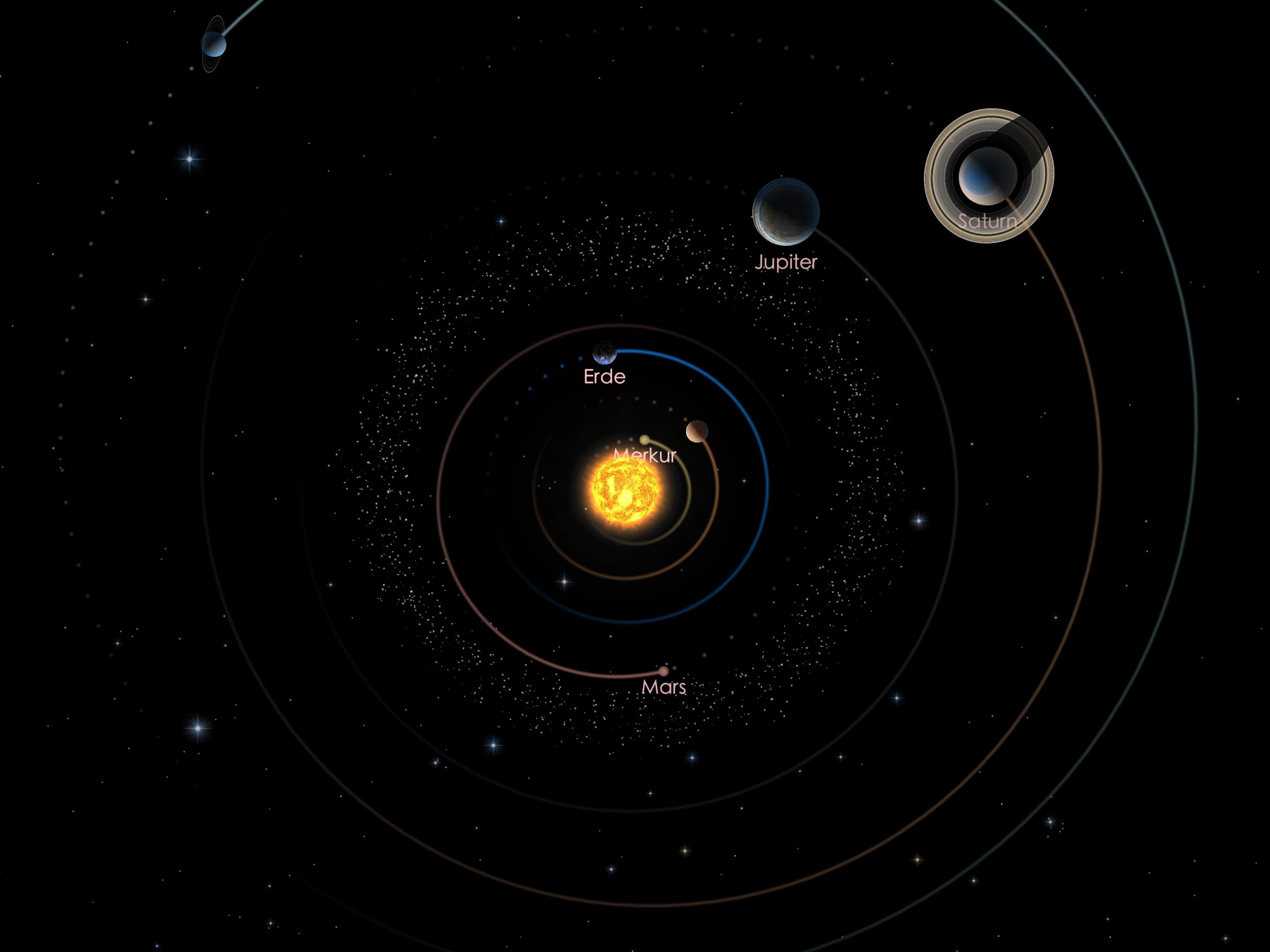 Jupiter und Saturn am 01.09.21
