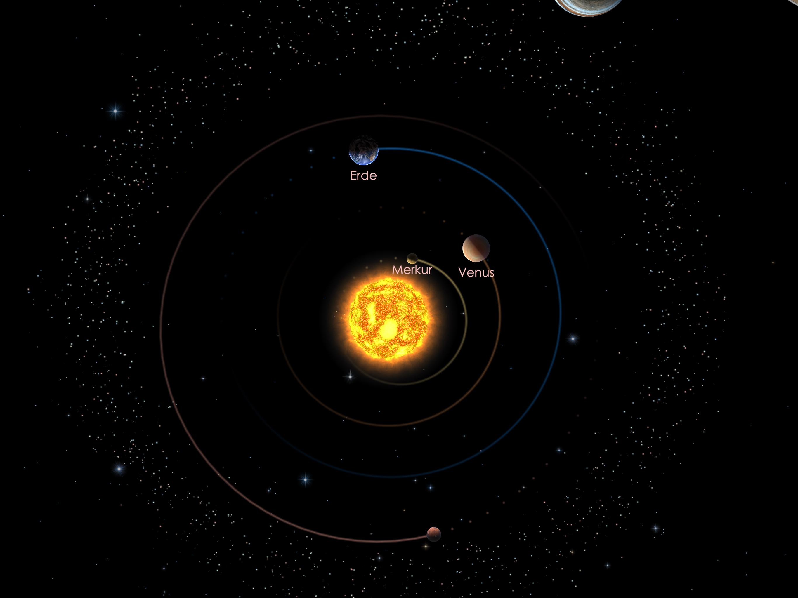 Die inneren Planeten am 01.10.21
