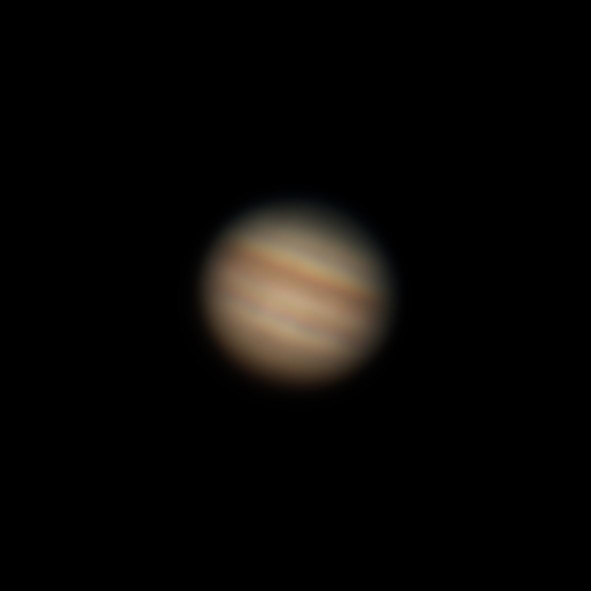 Unscharfer Jupiter